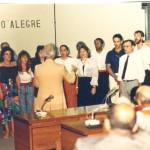 Com cantores, na Câmara de Vereadores de Porto Alegre