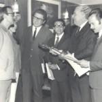 Com Thompson Flores, prefeito de Porto Alegre (1971)