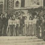 Santiago, Chile, 1977, com Madrigal de Porto Alegre