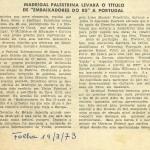 Nota da Folha, 1973